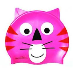 Шапочка для плавания детская котик розовый CLS 04 CAT-2