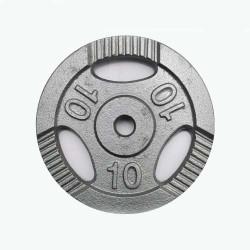 Диск штанги металлический окрашенный 10 кг KZ-100