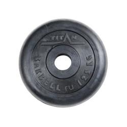 Диск штанги металлический обрезиненный 1,25 кг SOD-12