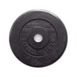 Диск штанги металлический обрезиненный 15 кг SOD-150