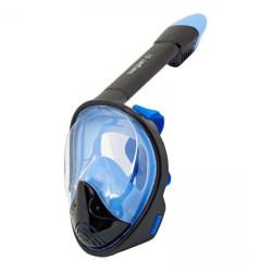 Маска для снорклинга полнолицевая Сарган Планета цвет черный/синий