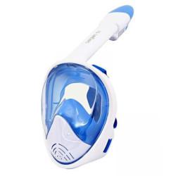 Маска для плавания полнолицевая детская Сарган Планета white-blue