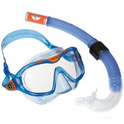 Маска с трубкой для плавания детская модель MIX Aqua Lung